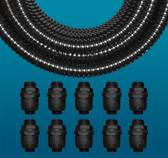 PVC Spiral Reinforced Contractor Packs