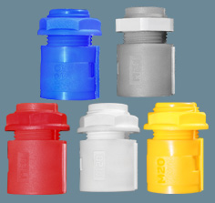 R-Series Coloured Polypropylene Hinged Fittings