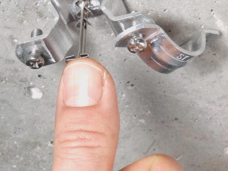 Installing Metal Dowel Fastening Nail